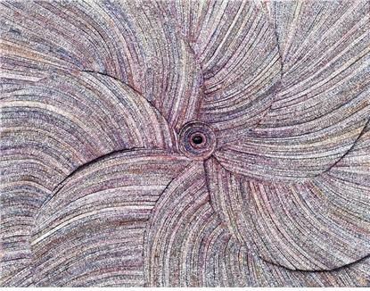 허회태,생명의 꽃2,117x91cm,한지,혼합재료,2018