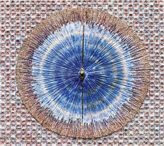 허회태,심장의 울림4,96x85cm,한지,혼합재료,2017