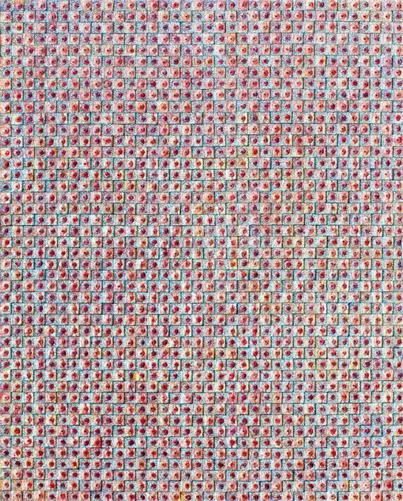 허회태,헤아림의 잔치3, 130x163cm,한지,혼합재료,2018